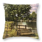 A Seat By The Thames Throw Pillow