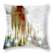 A Spiritual Healing Throw Pillow