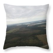 Aerial View Of Fort Myers Throw Pillow
