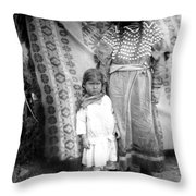 American Indian Woman Female Daughter 1890s Throw Pillow
