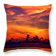 ... And As The Sun Sets On Another Beautiful Day Throw Pillow