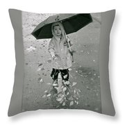 ... Another Rainy Day  Throw Pillow