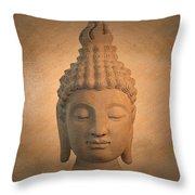 Antique Oil Effect Buddha Sukhothai , Throw Pillow