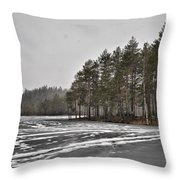 April Snow 3 Throw Pillow
