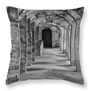 Archway At Moravian Pottery And Tile Works In Black And White Throw Pillow