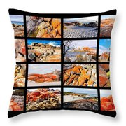 ' Australia Rocks ' - Bay Of Fires - Tasmania Throw Pillow