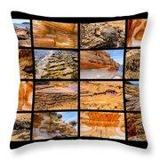 ' Australia Rocks ' - Maria Island - Tasmania Throw Pillow