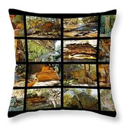 ' Australia Rocks ' - The Dripping Gorge - New South Wales Throw Pillow