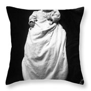Baby In Long Dress 1903 Black White 1900s Throw Pillow