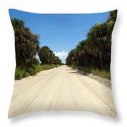 Back Road In Central Florida. Throw Pillow