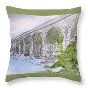 Ballydehob Bridge Ireland Throw Pillow