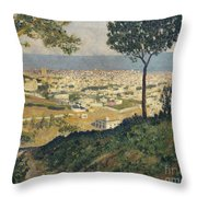 Barcelona Seen From Vallvidrera Throw Pillow