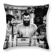 Three Barmen Throw Pillow