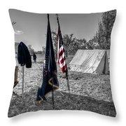 Battle Of Honey Springs V15 Throw Pillow