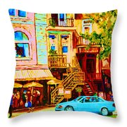 Beautiful Cafe Soleil Throw Pillow