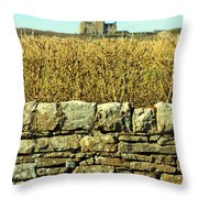 Behind The Rock Wall Throw Pillow