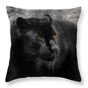 Black Leopard Throw Pillow