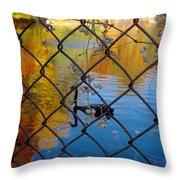 Black Swan On Watercolor Throw Pillow