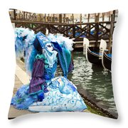Blue Angel 2015 Carnevale Di Venezia Italia Throw Pillow