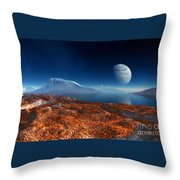 Blue Moon Over Patagonia Throw Pillow