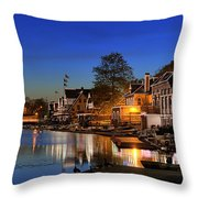 Boathouse Row  Throw Pillow
