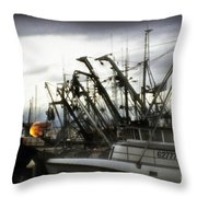 Boats With Sprays Of Light Throw Pillow