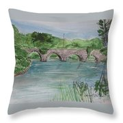 Bridge  In Bunclody, Ireland Throw Pillow
