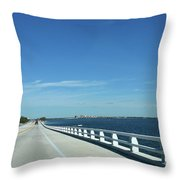 Bridge Over The Sea Throw Pillow