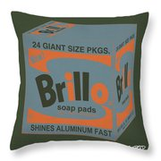 Brillo Box Colored 16 - Warhol Inspired Throw Pillow