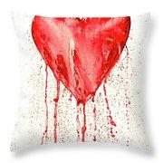 Broken Heart - Bleeding Heart Throw Pillow