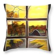 Broken Window Dreamy Mirage Throw Pillow