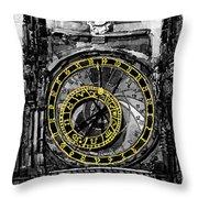 Bw Prague The Horologue At Oldtownhall Throw Pillow