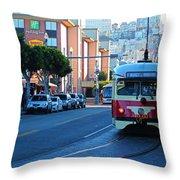 Cable Car Throw Pillow