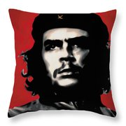 - Che - Throw Pillow by Luis Ludzska