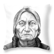Chief Sitting Bull Throw Pillow