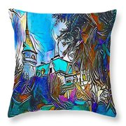 Church Blue - My Www Vikinek-art.com Throw Pillow