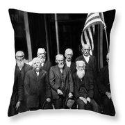 Civil War Veterans October 8 1923 Black White Throw Pillow