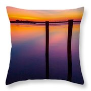 Color Before Dark Throw Pillow