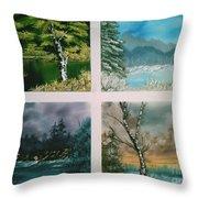 Colors Of Landscape Throw Pillow