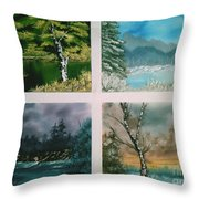 Colors Of Landscape Throw Pillow