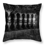 Columns And Pine Throw Pillow