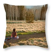 Contemplative Meditation Throw Pillow
