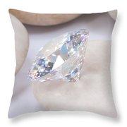 Diamond On White Stone Throw Pillow
