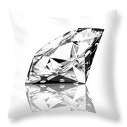 Diamond Throw Pillow by Setsiri Silapasuwanchai