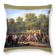 Distribution Of Wine And Food Throw Pillow