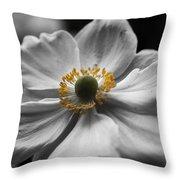 Dreamy Japanese Anenome Honorine Joubert 4 Throw Pillow