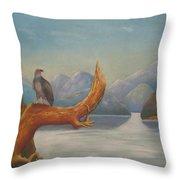 Eagle Bird Of Freedom Throw Pillow