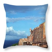 El Morro Fortress Rainbow Throw Pillow