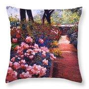 English Tea Roses Throw Pillow