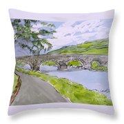 Ferry House Bridge Throw Pillow